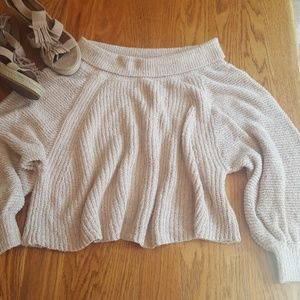 Free People Cowl Neck Oversized Sweater M